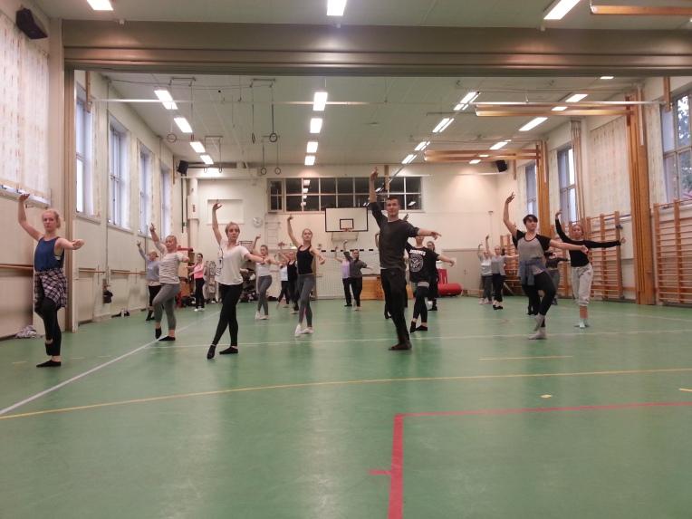 Balettitunti Tukholmassa.